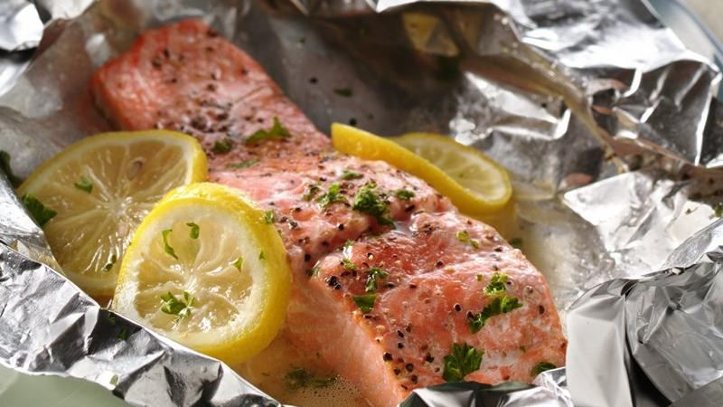 Grilled Lemon Salmon Packs
