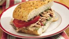 Slow Cooker Tuscan-Style Chicken Sandwiches Recipe