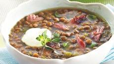 Slow Cooker Smoked Turkey Lentil Soup Recipe