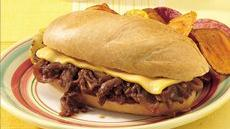 Cheesy Barbecue Pork Sandwiches Recipe