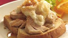 Slow Cooker Open-Face Turkey Dinner Sandwiches Recipe