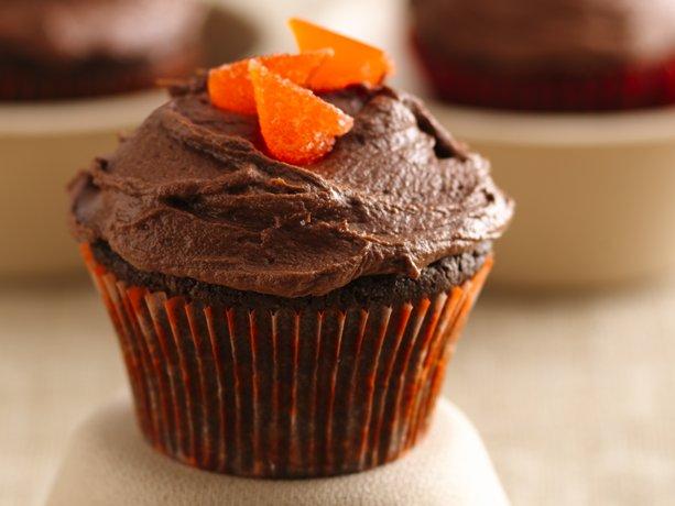 Magdalenas de chocolate y naranja