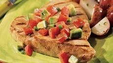 Tuna Steaks with Avocado and Tomato Recipe
