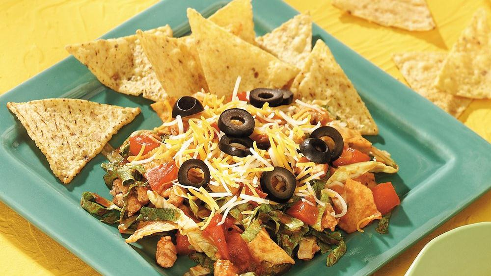 Chips and Salsa Taco Salad