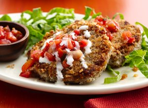 Black&#32;Bean&#32;Cauliflower&#32;Cakes&#32;with&#32;Pico&#32;de&#32;Gallo