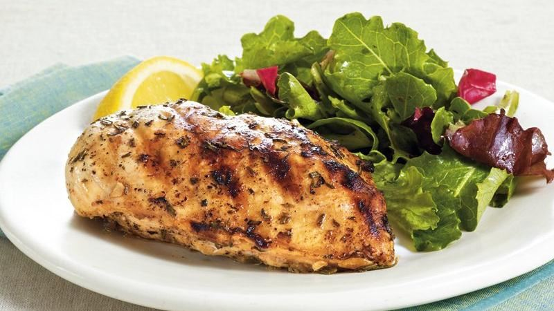 Grilled Chicken with Lemon, Rosemary and Garlic