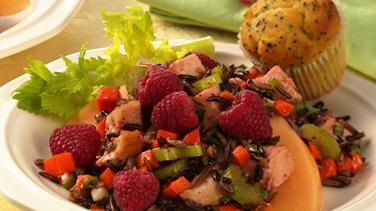 Tarragon Chicken, Wild Rice and Raspberry Salad