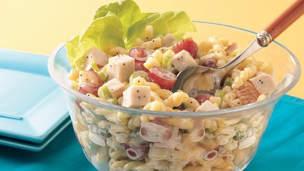 Chicken Pasta Salad with Poppy Seed Dressing recipe from Pillsbury.com