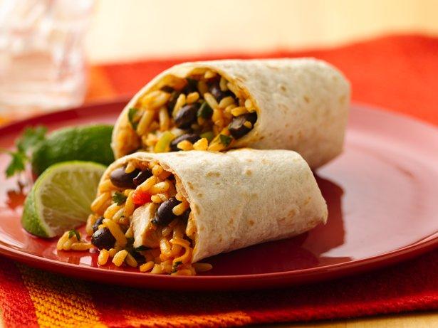Mexican Chicken Rice Burrito Recipe
