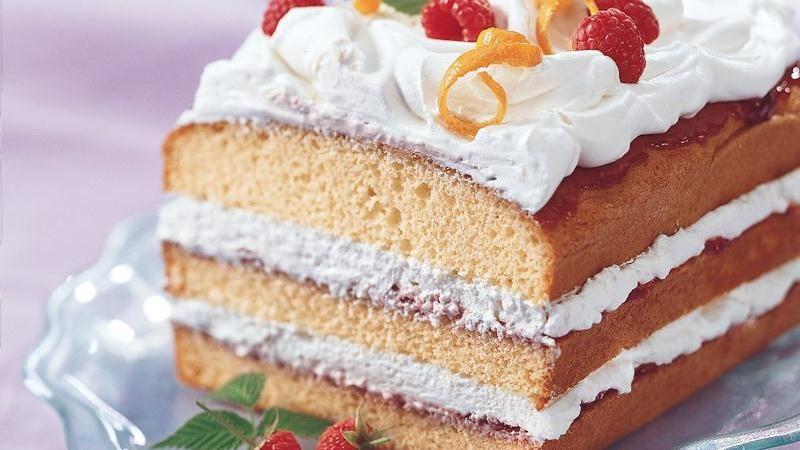 Orange Raspberry Torte