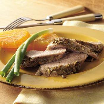 Italian Pork Tenderloin with Roasted Sweet Potatoes recipe from Betty ...