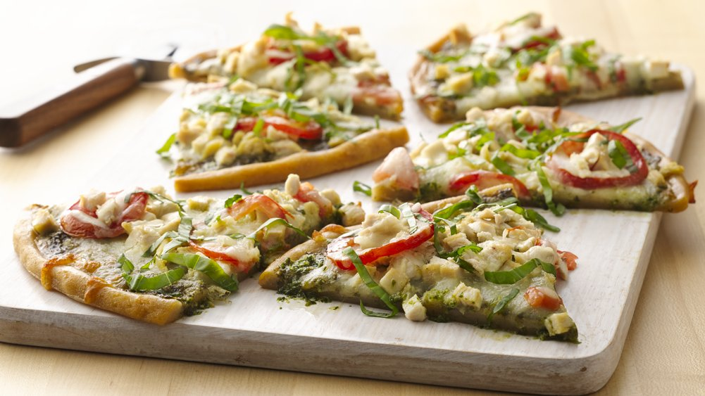 Gluten-Free Chicken Pesto Pizza