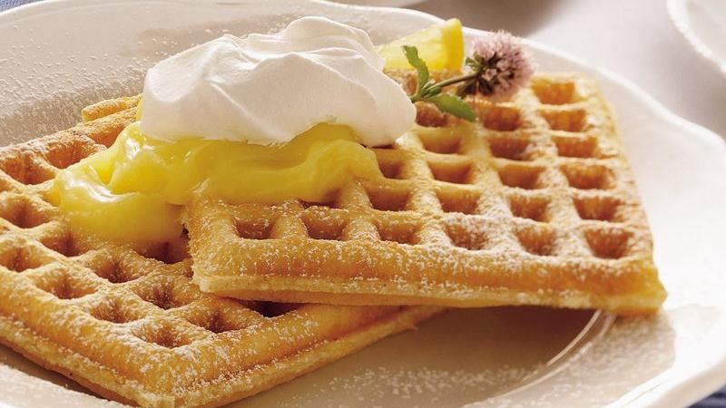 Lemon Cream Pie Waffles recipe from Betty Crocker