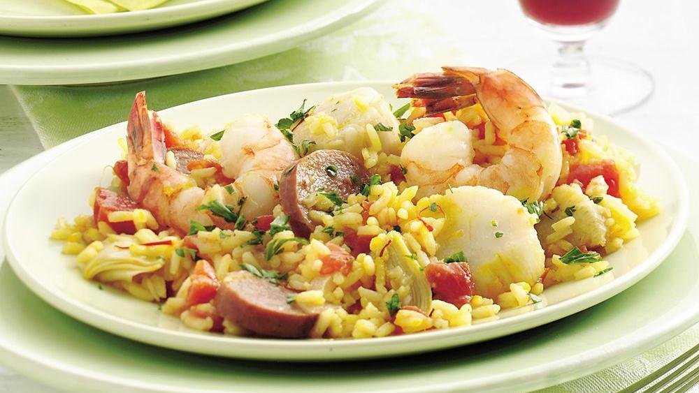 Easy Paella recipe from Pillsbury.com
