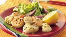 Grilled Lemon-Pesto Shrimp and Scallops Recipe