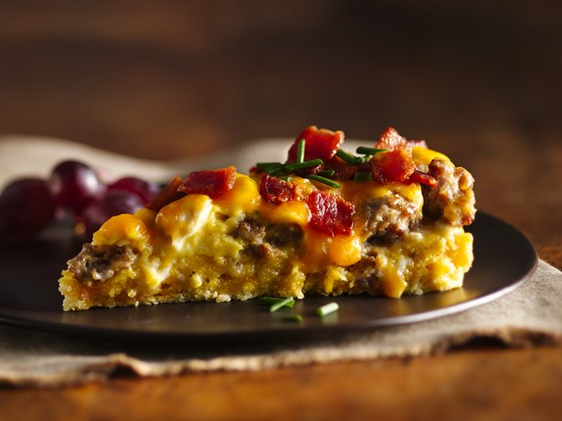 Sausage-Bacon 'n Cheese Breakfast Torte