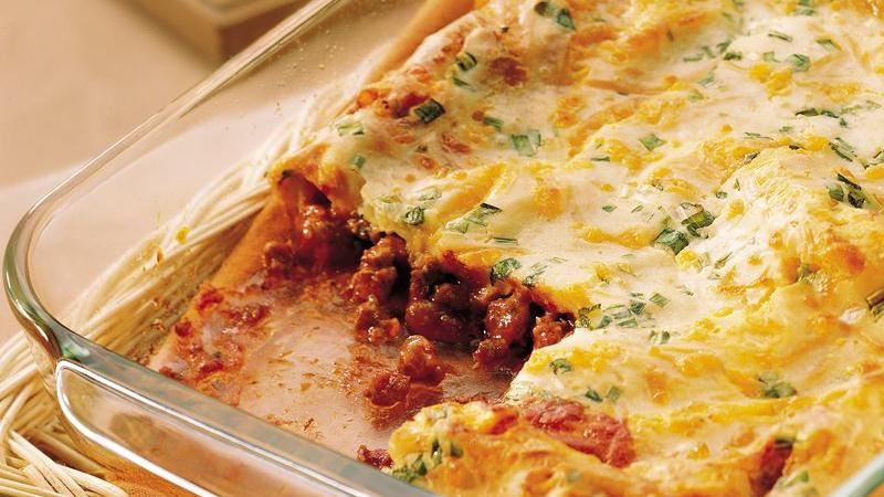 Popover Pizza Casserole recipe from Betty Crocker