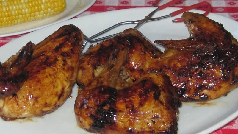 Maple-Bourbon Glaze (for Grilled Chicken) Recipe — Dishmaps