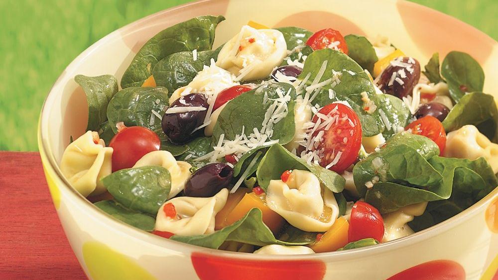 Tortellini-Spinach Salad