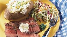 Grilled Sirloin with Bearnaise Butter Recipe