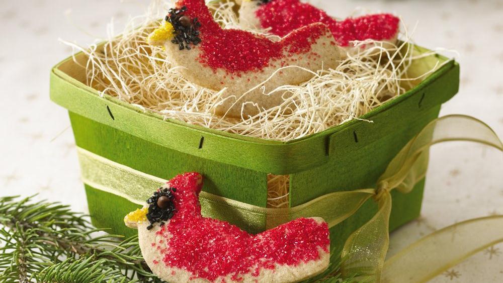 Cinnamon Cardinal Cookies