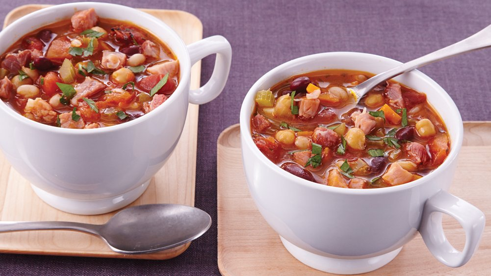 Slow-Cooker Heavenly Ham and Bean Soup recipe from Pillsbury.com