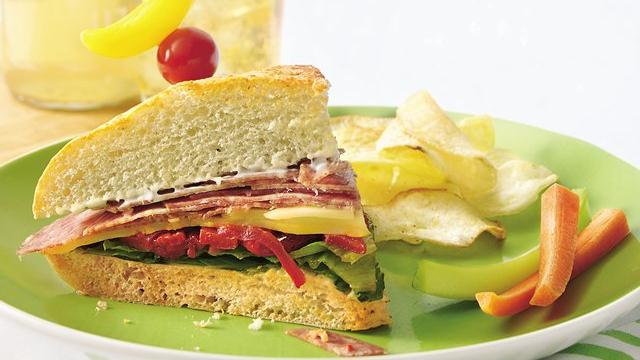 Image of Antipasto Focaccia Sandwich Wedges, Pillsbury