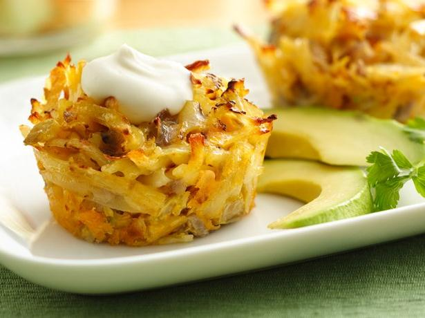 Mexican Hash Brown Breakfast Cupcakes recipe from Betty Crocker