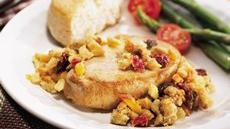 Slow-Cooked Pork Chops with Fruit Stuffing Recipe