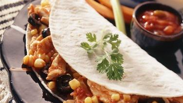 Mexican-Style Chicken-Filled Tortillas