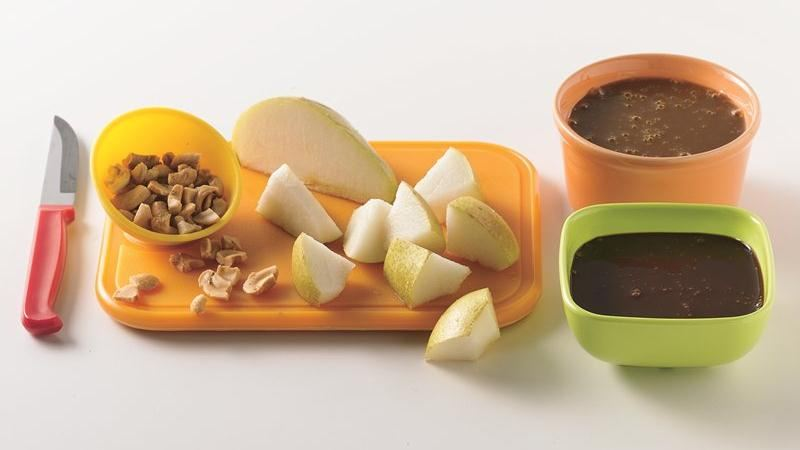Caramel-Chocolate Apple Fondue