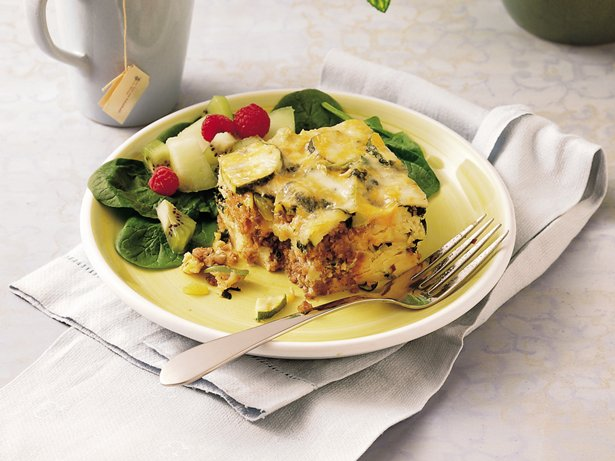 Sausage, Vegetable and Cheese Strata
