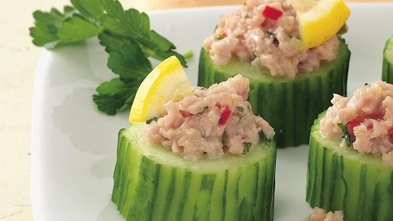 Ham Salad in Cucumber Cups
