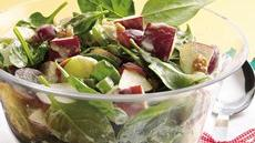 Spinach Waldorf Salad with Cinnamon-Apple Dressing Recipe