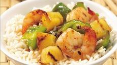 Sweet-and-Sour Grilled Shrimp over Rice Recipe
