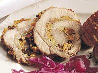 Apricot-Pistachio Rolled Pork
