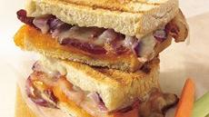 Grilled Double-Cheese and Bacon Sandwiches Recipe