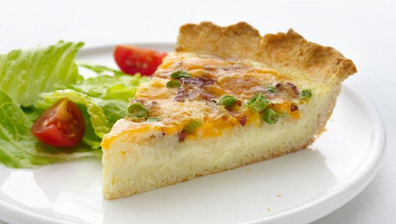 Healthified Cheddar and Bacon Quiche