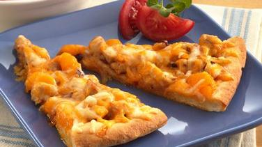 Orange-Chicken-Chipotle Pizza