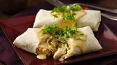 Cheesy Chicken Sour Cream Burritos Recipe