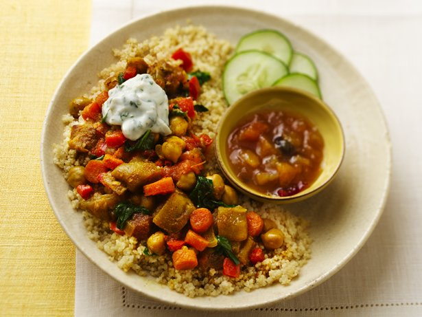 Slow Cooker Vegetable Curry with Couscous