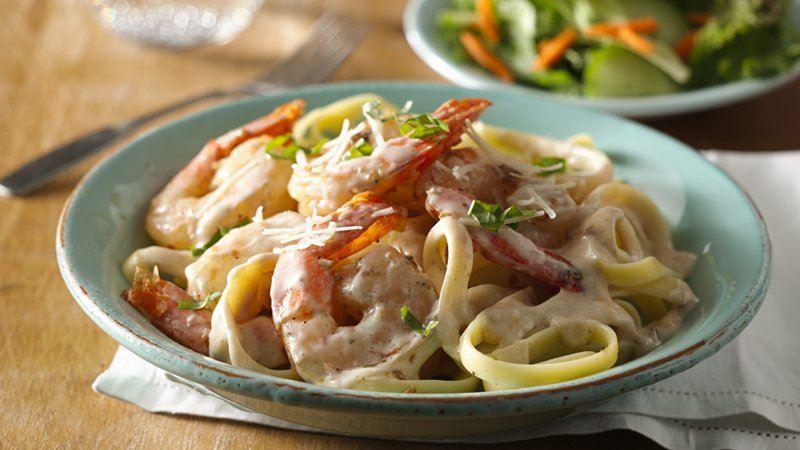 Parmesan Basil Shrimp Pasta