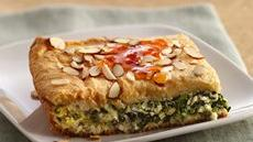 Spanakopita-Style Brunch Squares with Spicy Apricot Sauce Recipe