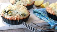 Cheesy Broccoli-Cauliflower Tarts Recipe