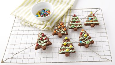 Double Chocolate Christmas Tree Cookie