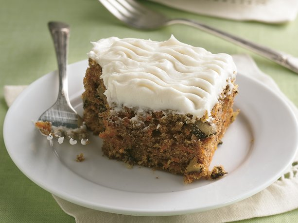 ... cream cheese frosting is the finishing touch on classic carrot cake
