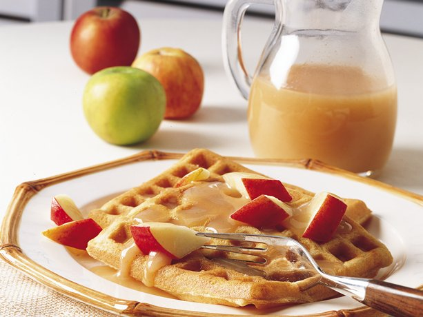 Image of Apple Cinnamon Waffles With Cider Syrup, Betty Crocker