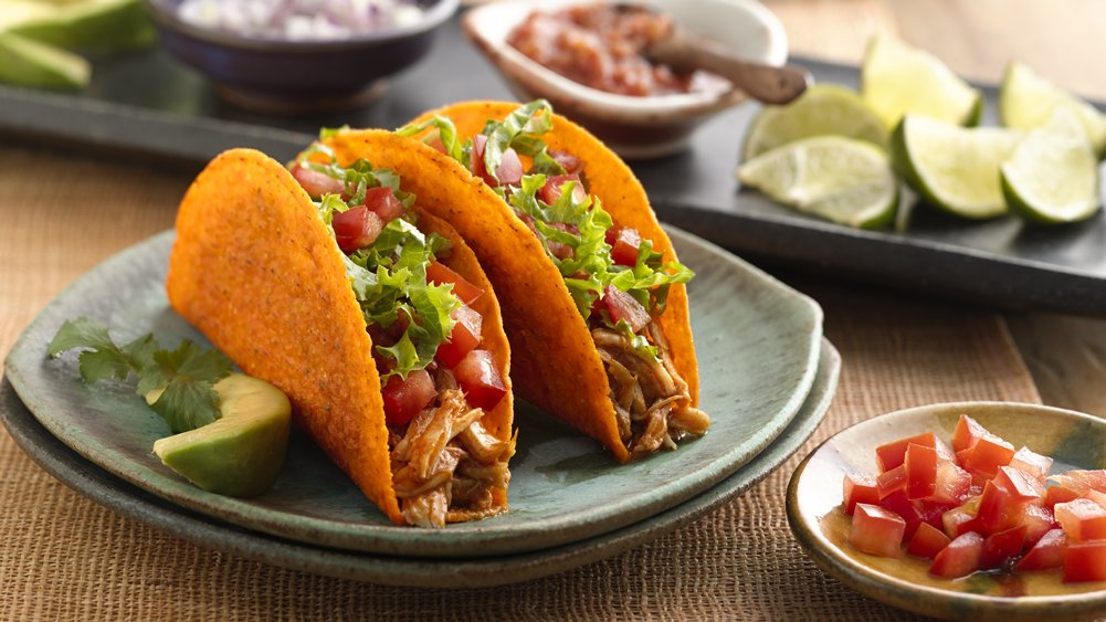 Slow-Cooker Chicken-Nacho Cheese Tacos