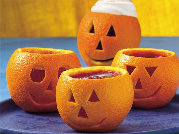 Spicy Cider Jack-o'-Lanterns