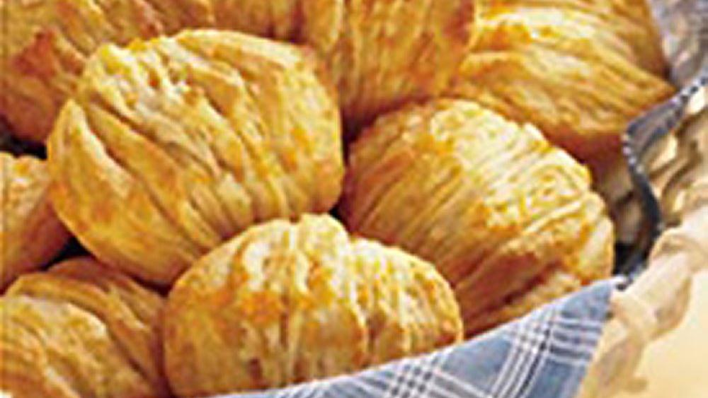 Orange Honey Fan Biscuits
